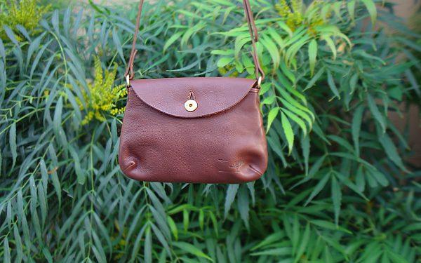 """Leather shoulder bag """"Accept"""""""