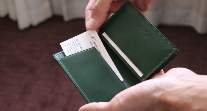 Good manners and behaviors 'Through' our business card case