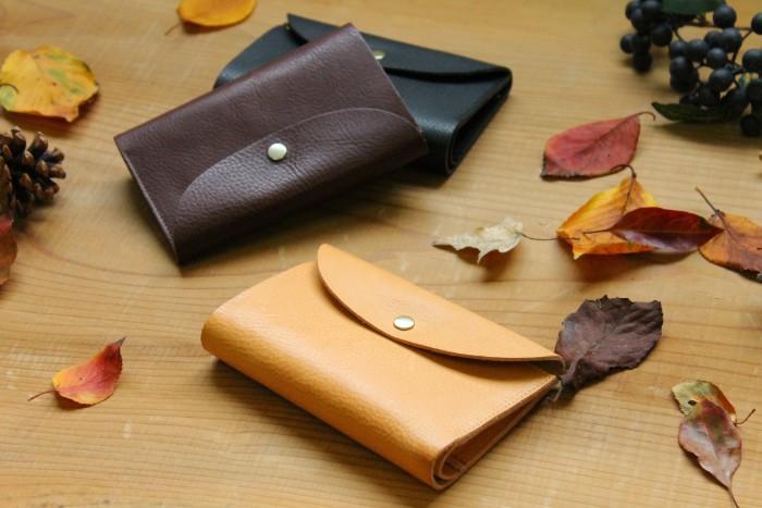 秋のお出かけに。縦長三つ折り財布 Mood