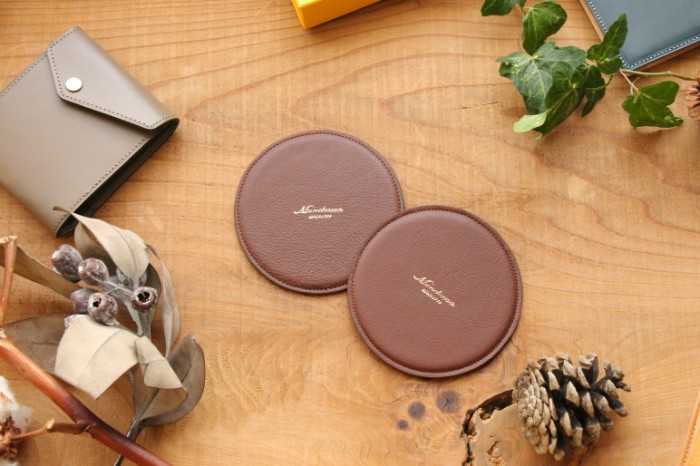 Christmas gift promotion- 50 pairs limited of original leather coaster –