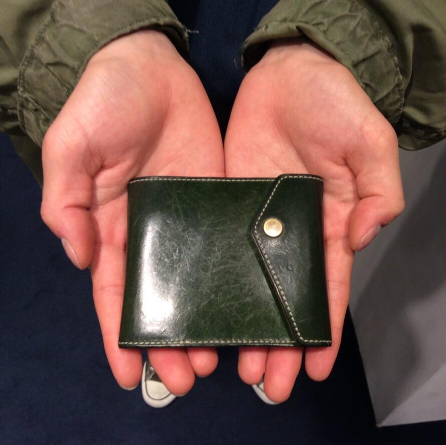 20代 男性 /マネークリップ型財布Carriage グリーン