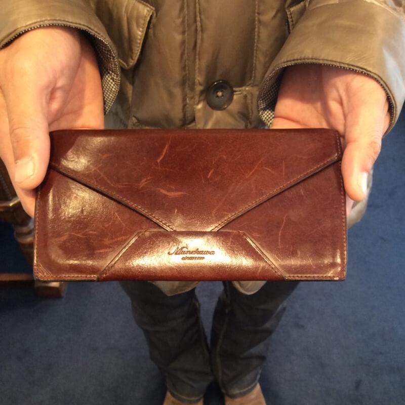40代 男性 /封筒型長財布 Encase ダークブラウン