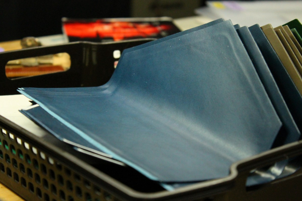 封筒型長財布Encaseの製作風景