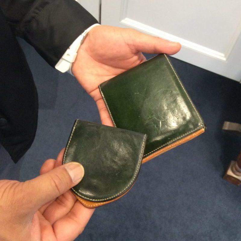 30代 男性 /二つ折り財布 Feel Card グリーン・コインケース Undo グリーン