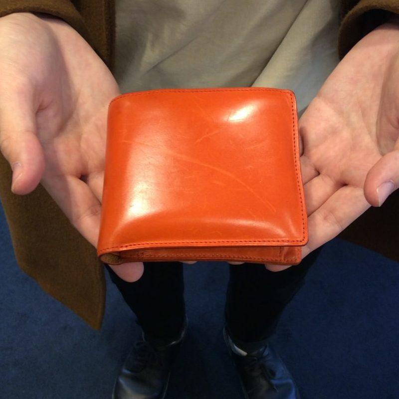 20代 男性 /二つ折り財布 Feel Coin2 オレンジ