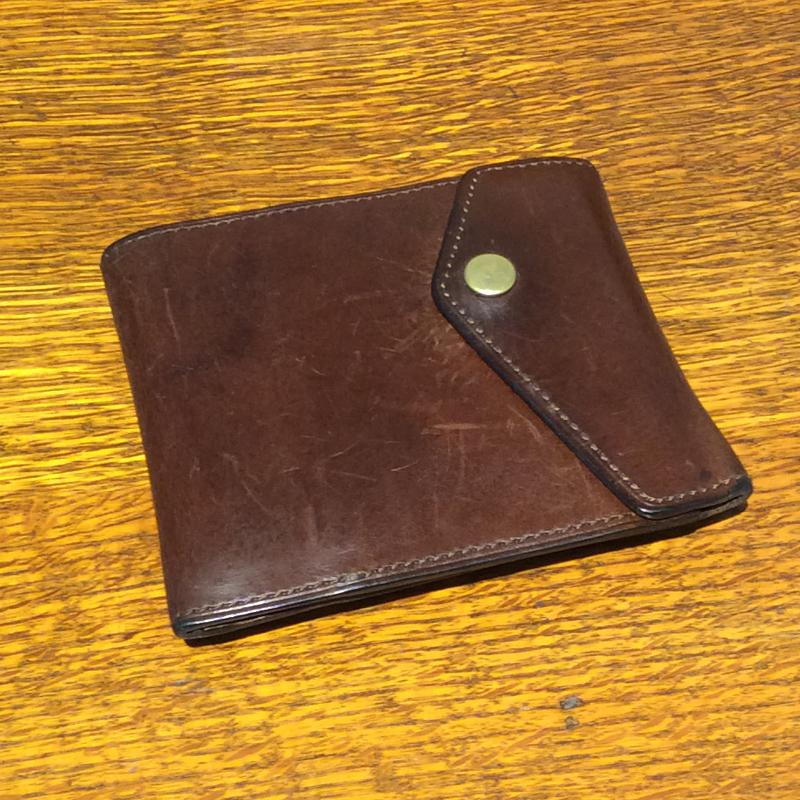 20代 男性 /マネークリップ型財布 Carriage(内外同色) ブラウン