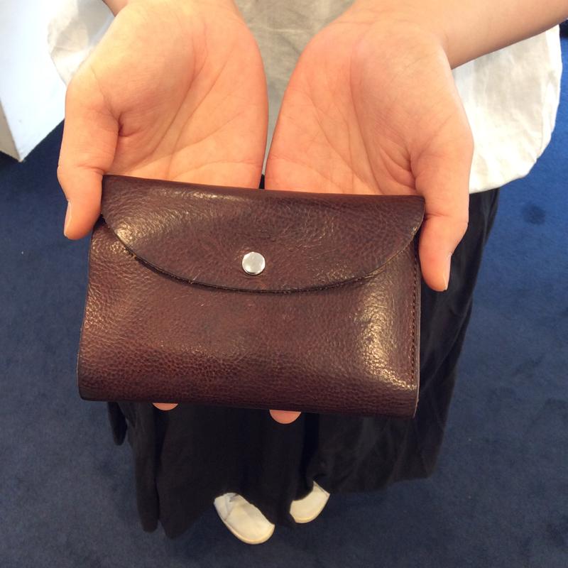 30代 女性 /縦長三つ折り財布 Mood ブラウン