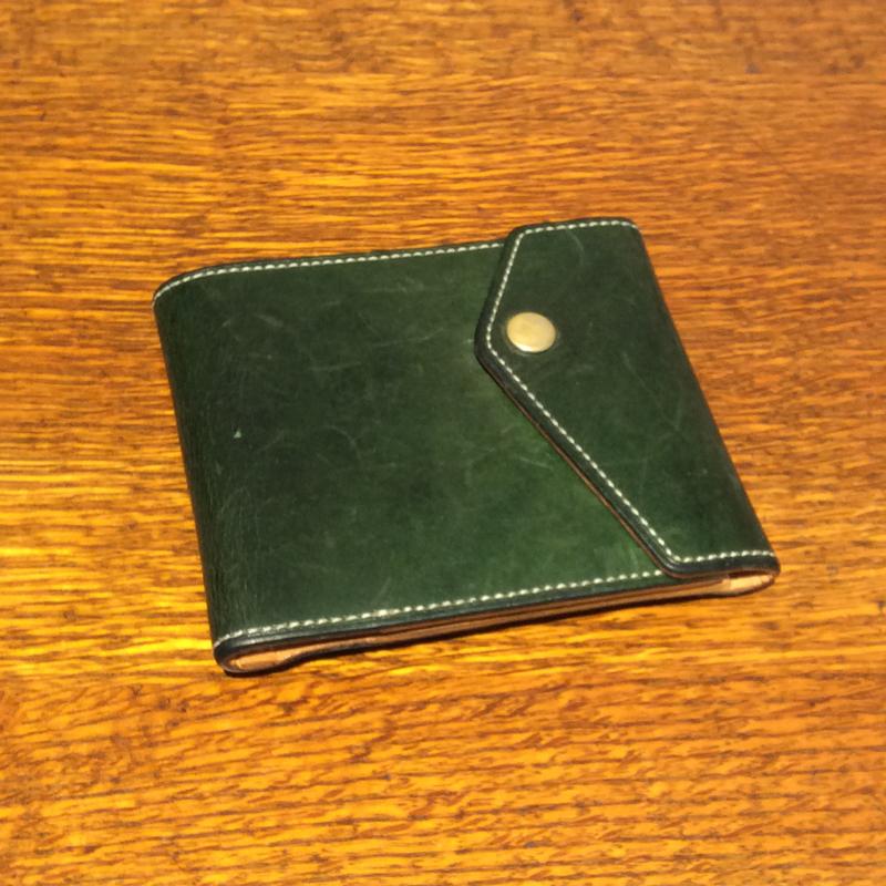 40代 男性 /マネークリップ型財布 Carriage グリーン