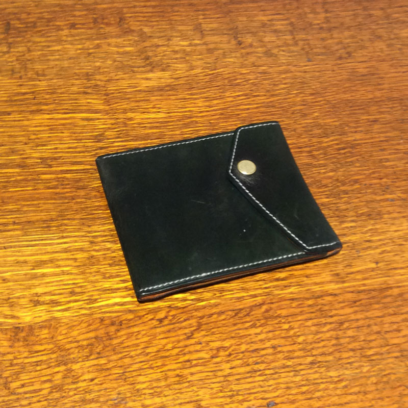 60代 男性 /マネークリップ型財布 Carriage ブルー