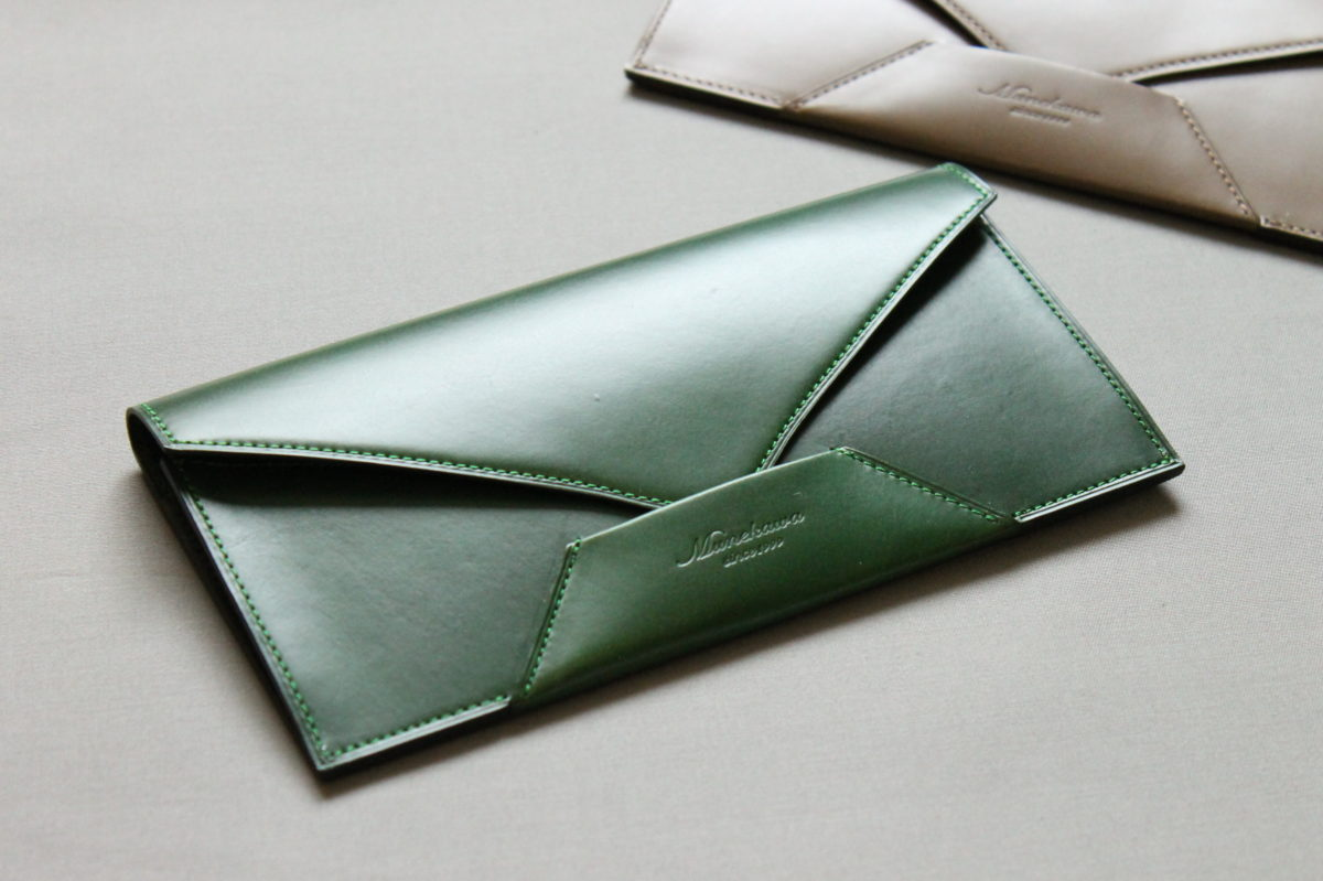 封筒型長財布 Encaseが完成しました。