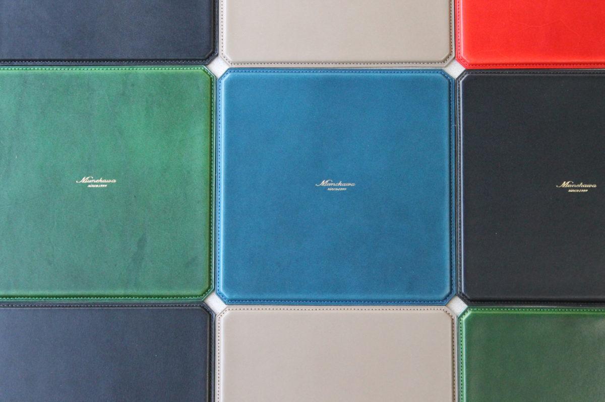 レザーマウスパッド各5色の風合