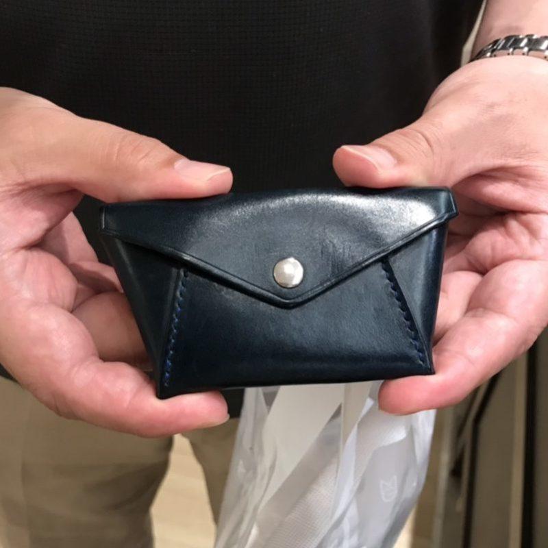 男性 / 手縫いコインケース Hold ブルー