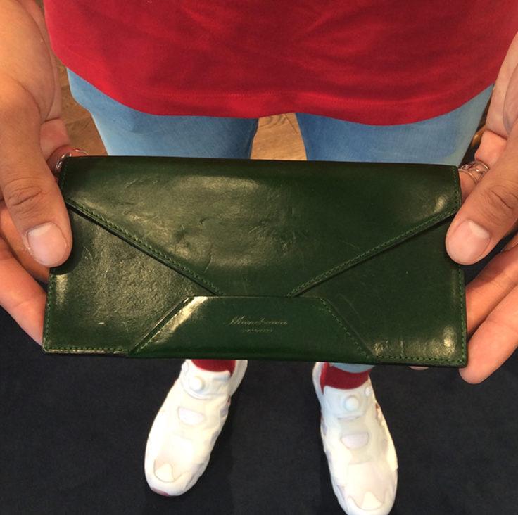 20代 男性 /封筒型長財布 Encase グリーン