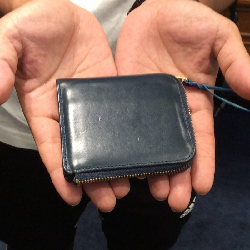 30代 男性 / L字ファスナー財布 Cram ブルー