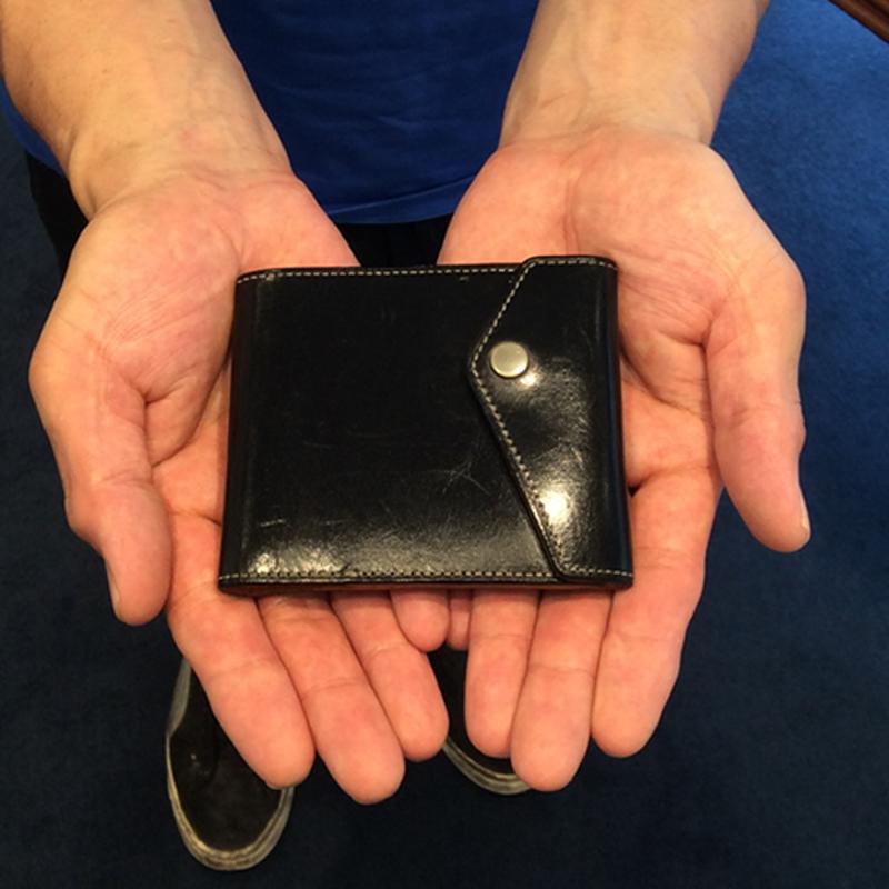 30代 男性 / マネークリップ型財布 Carriage (内ヌメ) ブラック