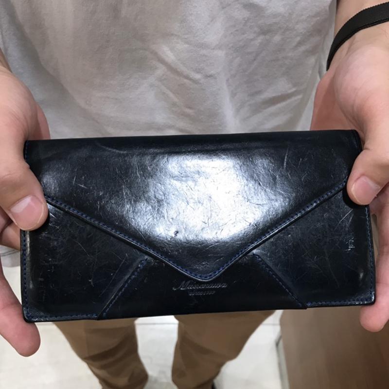 20代 男性 / 封筒型長財布 Encase ブルー