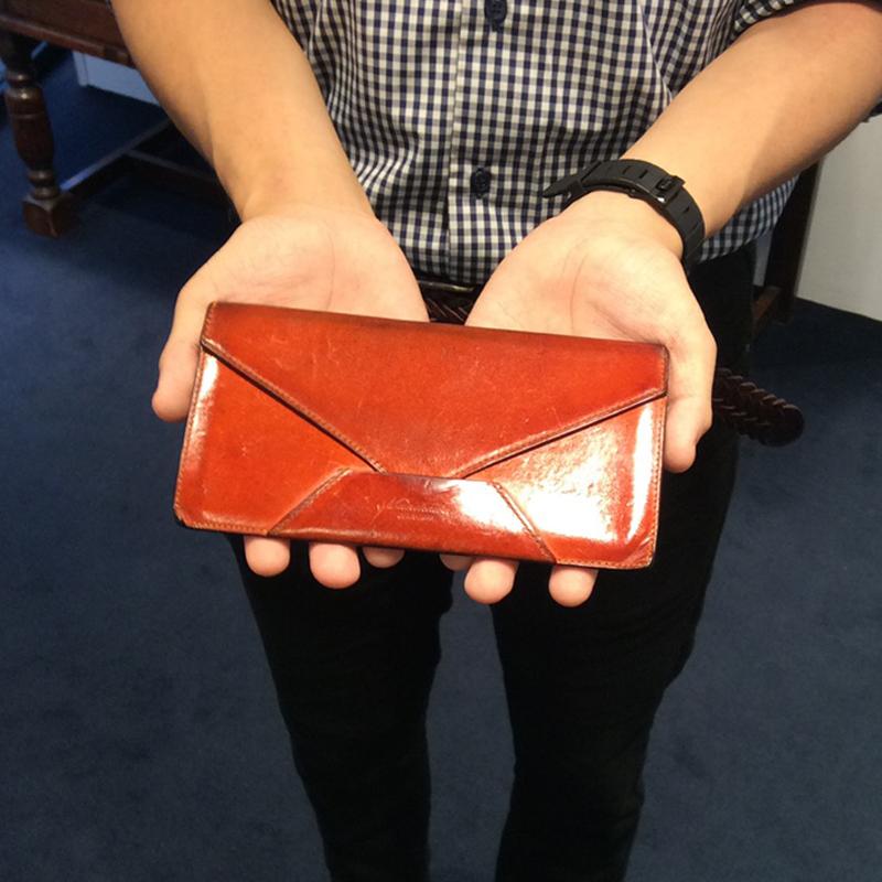 20代 男性 / 封筒型長財布 Encase オレンジ