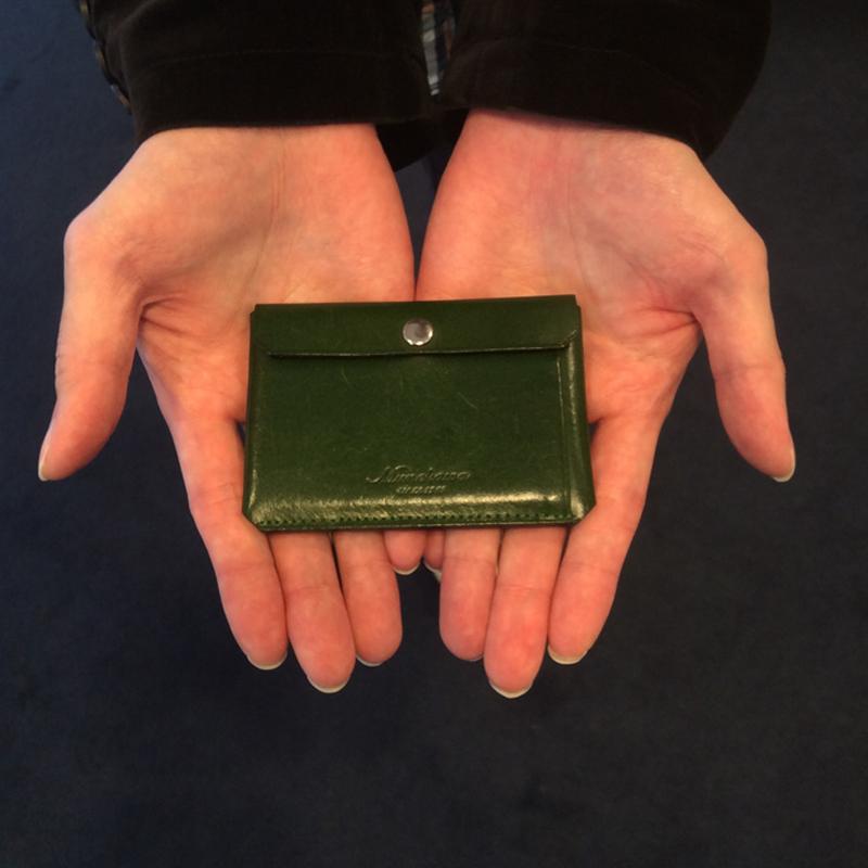 30代 男性 / カードケース Tuck  グリーン