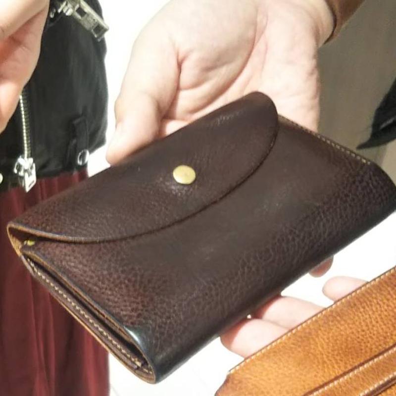 30代 男性 /  縦長三つ折り財布 Mood ブラウン