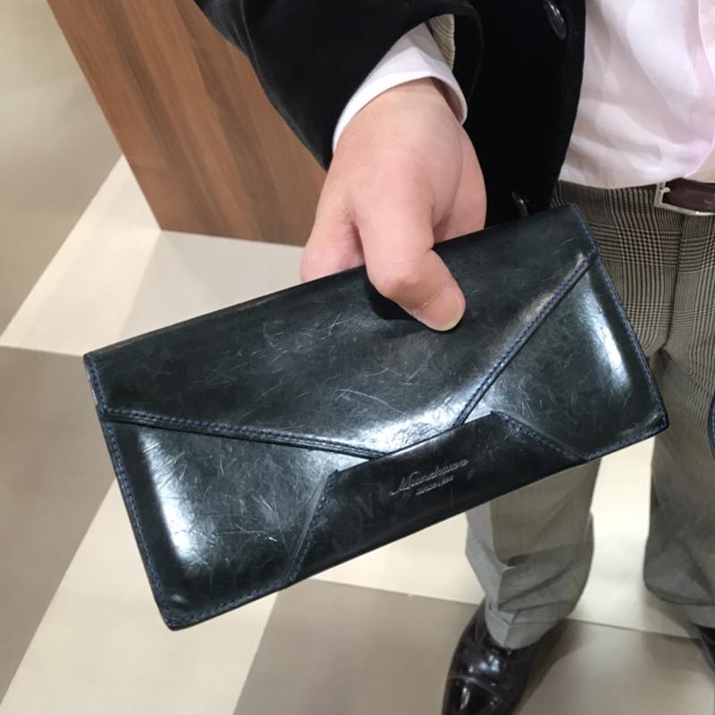 男性 /封筒型長財布 Encase ブルー