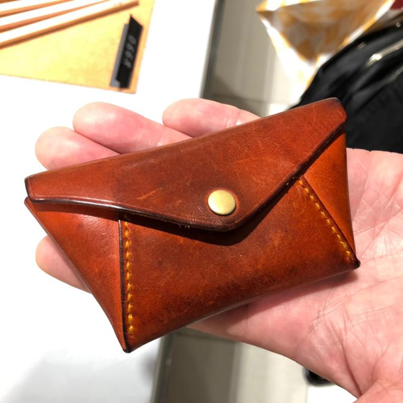 50代 男性 / 手縫いコインケース Hold オレンジ
