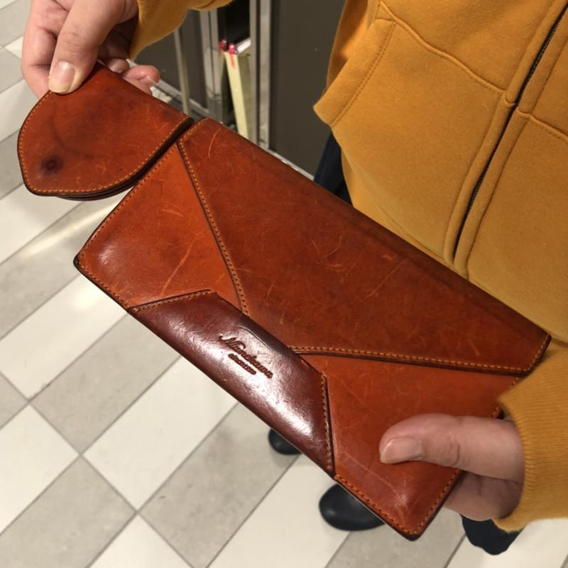 30代 女性 /封筒型長財布 Encase オレンジ
