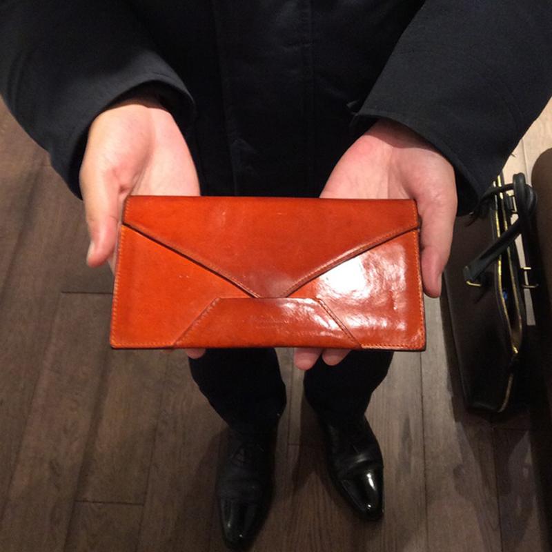 30代 男性 / 封筒型長財布 Encase オレンジ