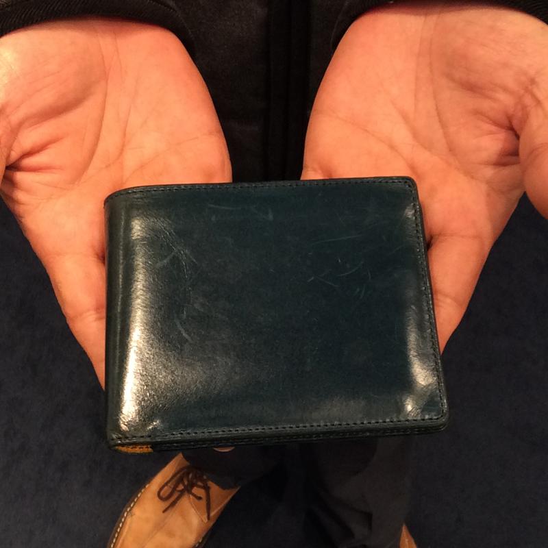 50代 男性 / 二つ折り財布 Feel Card2 ブルー