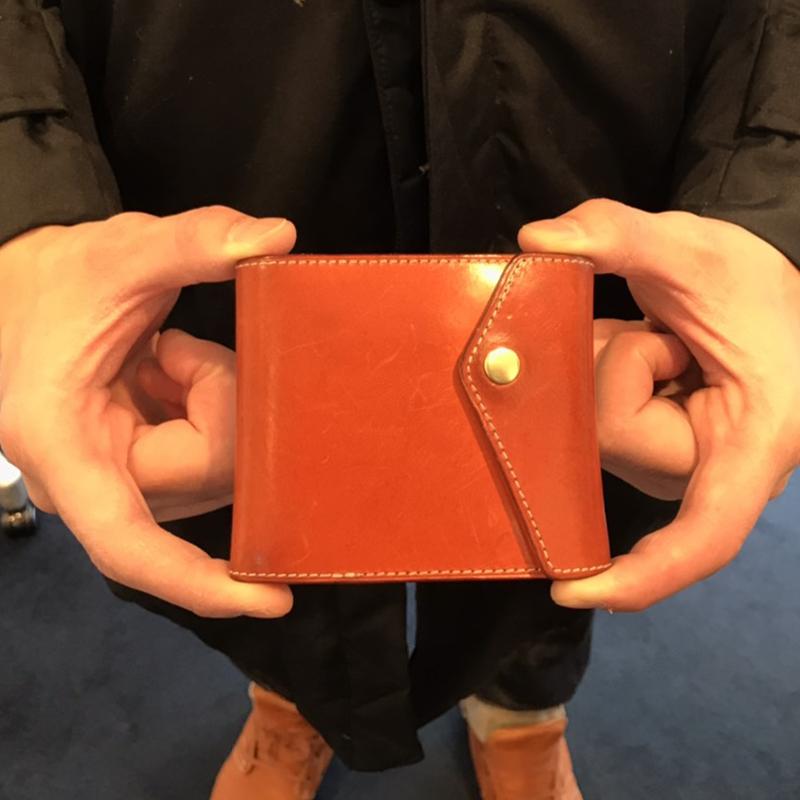 30代 男性 / マネークリップ型財布 Carriage オレンジ