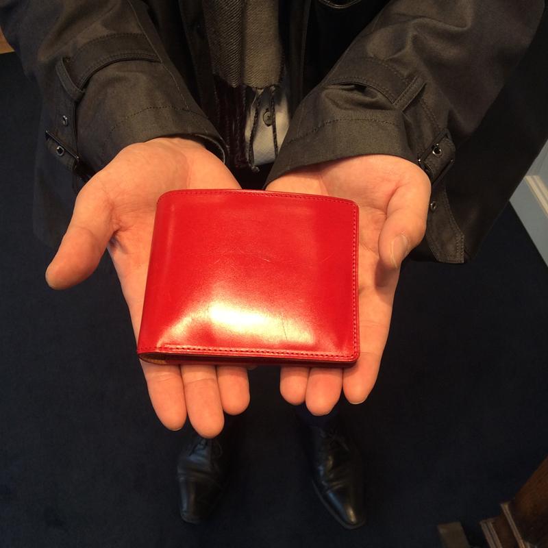 20代 男性 / 二つ折り財布 Feel Card2 レッド
