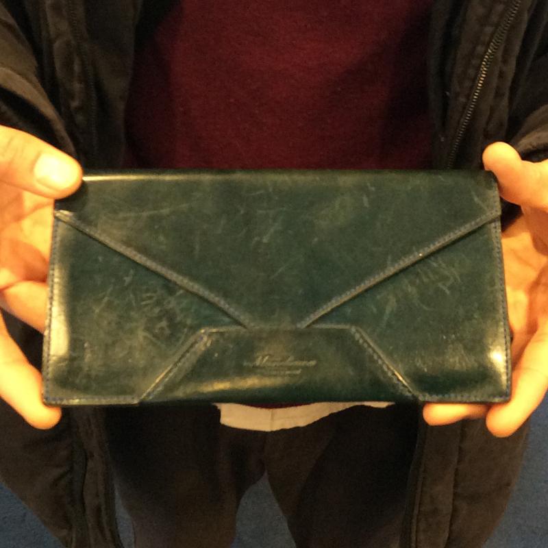 30代 男性 / 封筒型長財布 Encase ブルー