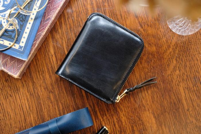 ブライドルレザーのL字ファスナー財布が完売しました。