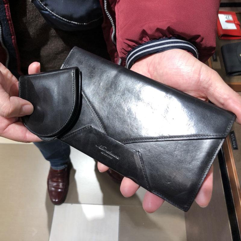 50代 男性 / 封筒型長財布 Encase ブラック