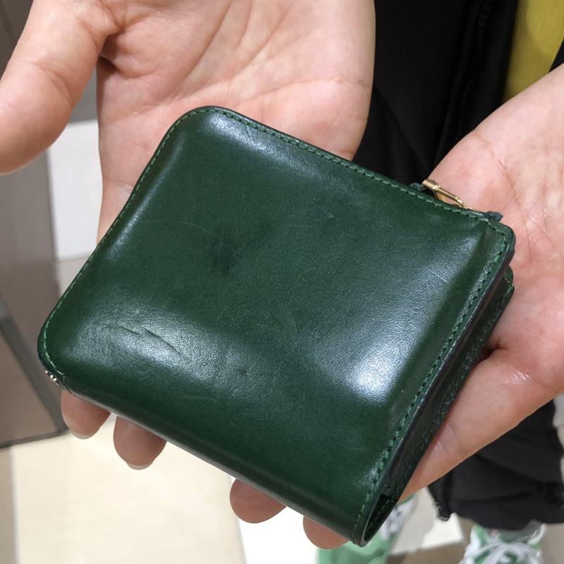 30代 女性 / L字ファスナー財布 Cram グリーン