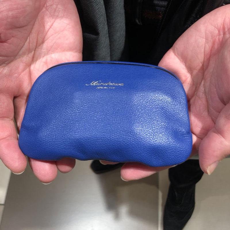50代 男性 / がまぐちコインケース M ブルー