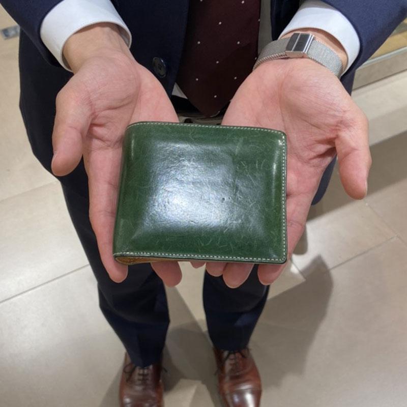 20代 男性 / 二つ折り財布 Feel Coin グリーン