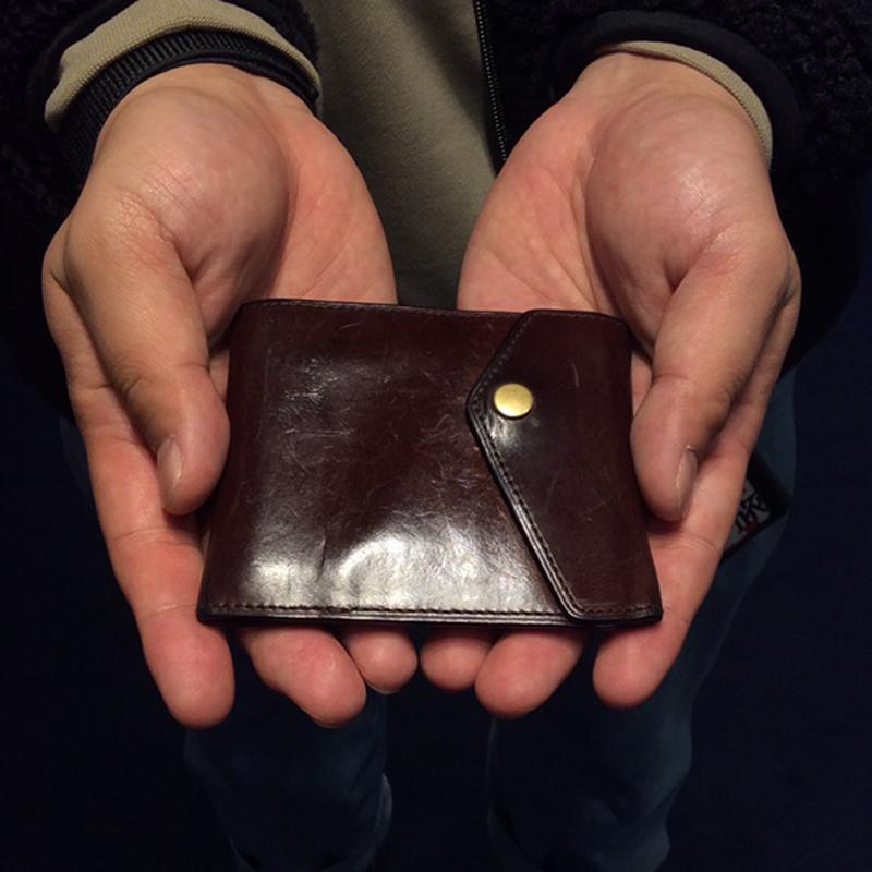 30代 男性 / マネークリップ型財布 Carriage ダークブラウン