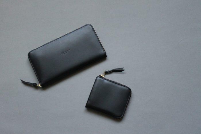 2種類のファスナータイプの財布