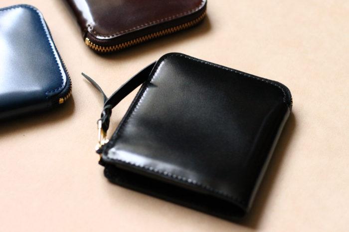 コードバンとブライドルレザー、2種類のL字ファスナー財布 Cram