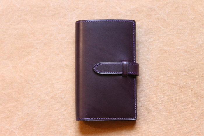 ストラップ付縦長二つ折り財布 Fastenが完成しました。