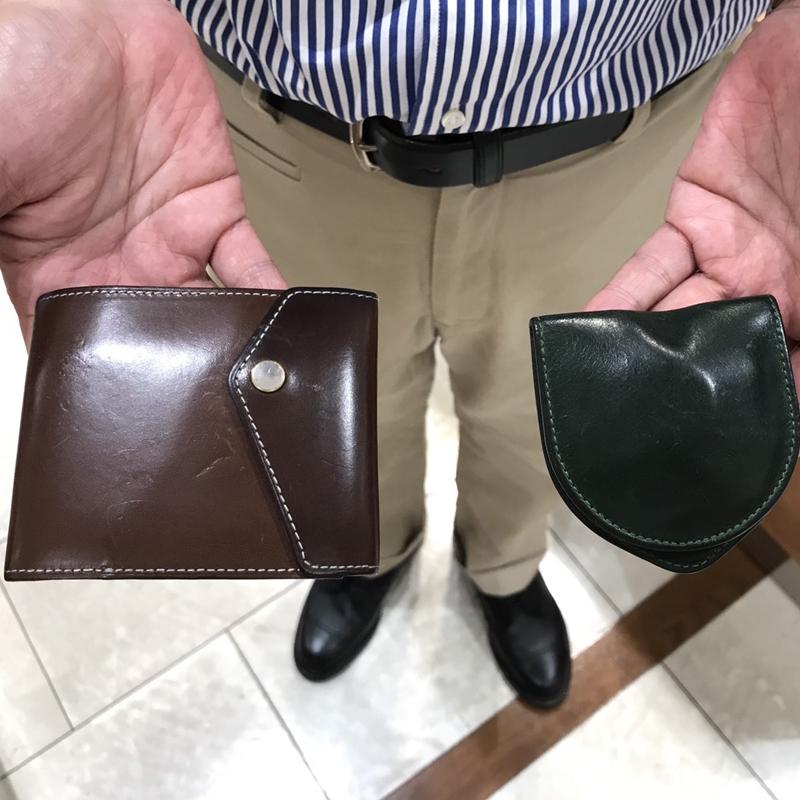 40代 男性 / マネークリップ型財布 Carriage (内ヌメ) ダークブラウン