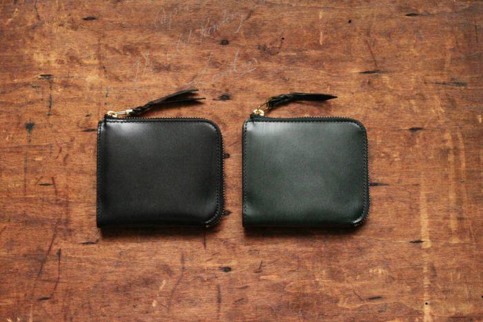 L字ファスナー財布Cramのブライドルレザー・コードバンタイプ