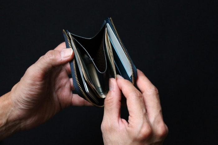 L字ファスナー財布 Cram製作中です。