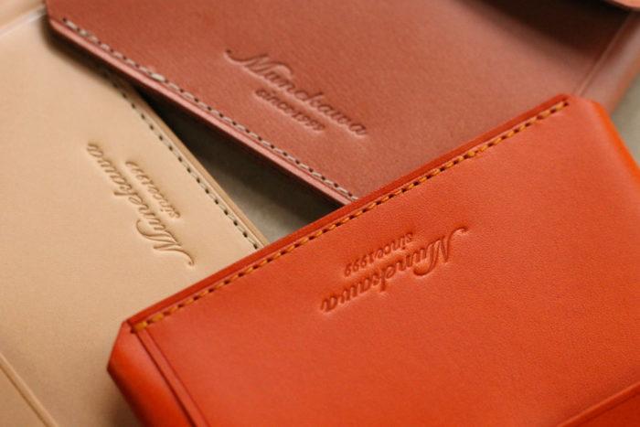 【ピンク・オレンジ・プレーン】Limited colorのカードケース Tuck
