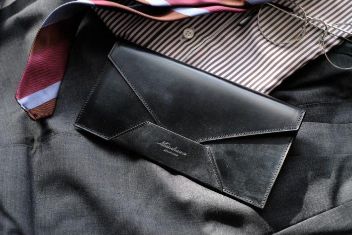 ブライドルレザーの封筒型長財布 Encase