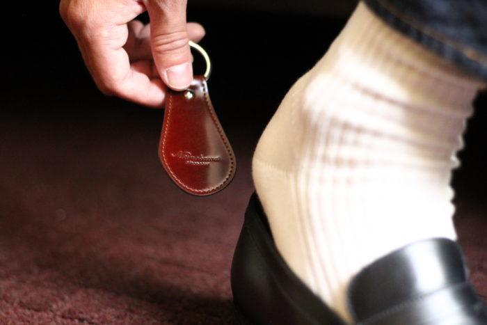 靴ベラキーリングの利便性