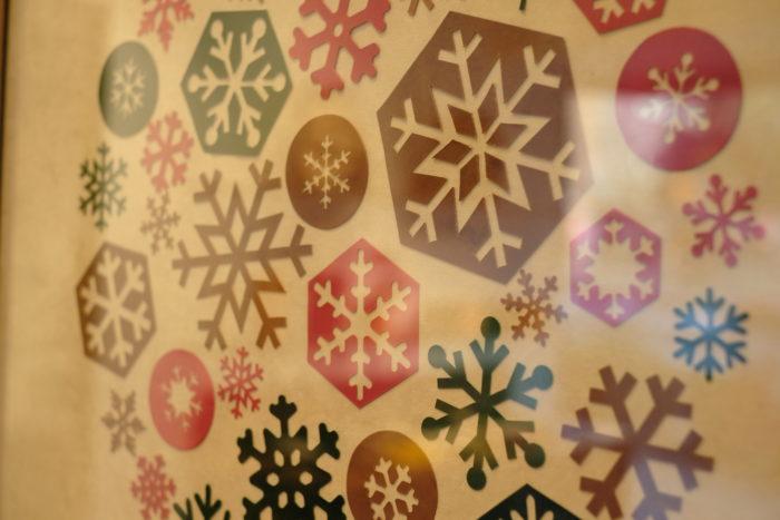 直営店のクリスマスディスプレイ