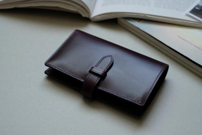 ストラップ付二つ折り財布 Fastenの製作