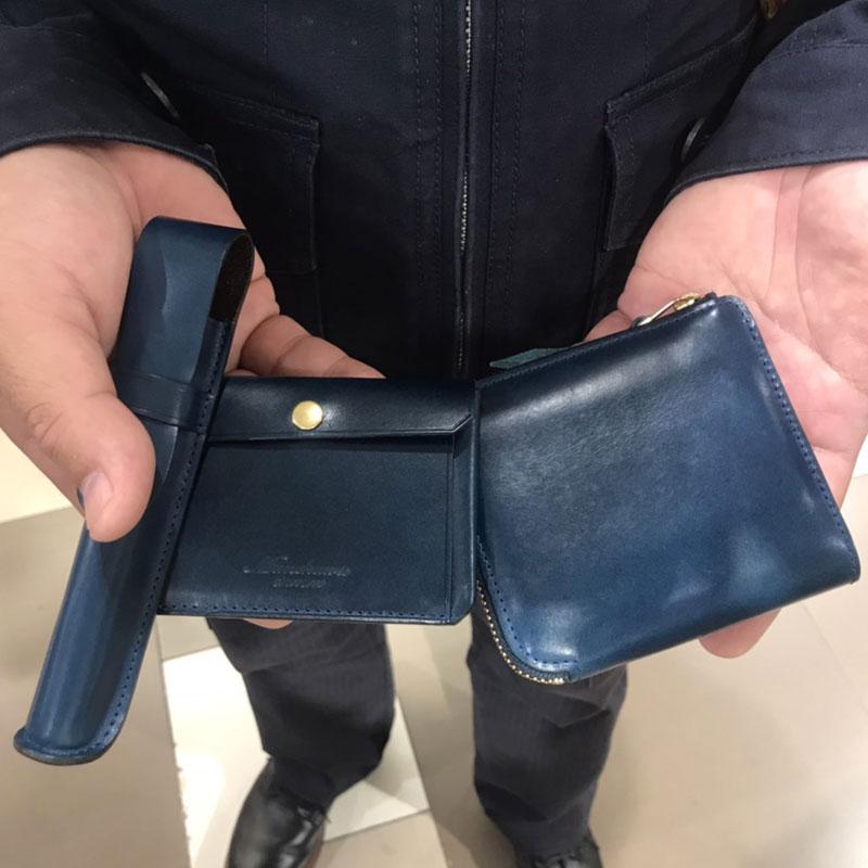 男性 / L字ファスナー財布 Cram ブルー