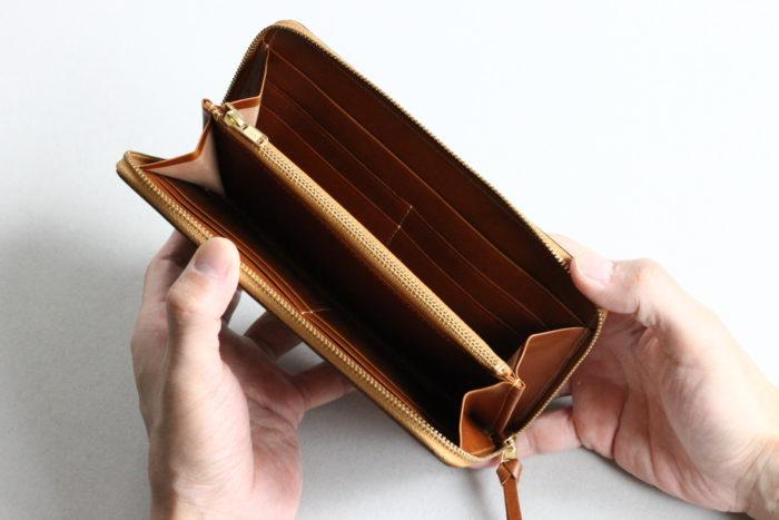 小銭入れ付きの長財布②ラウンドウォレット Border